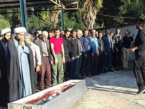 تشییع پیکر معدنکار گلستانی در رامیان