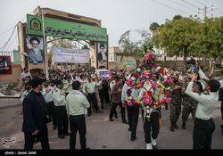 عکس/ تشییع پیکر امید طاهری شهید نیروی انتظامی