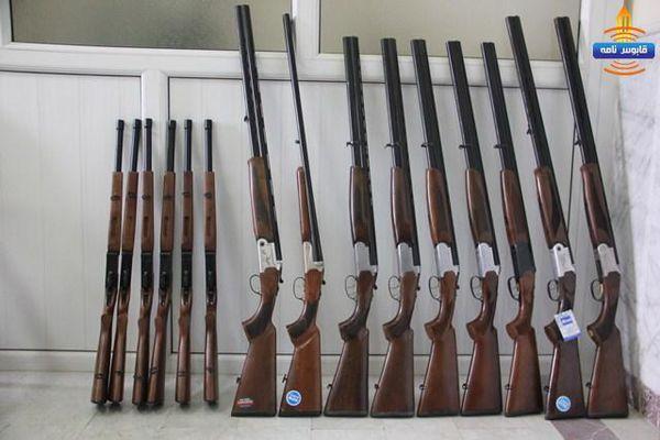 کشف ۱۵ قبضه سلاح شکاری غیرمجاز در گنبدکاووس
