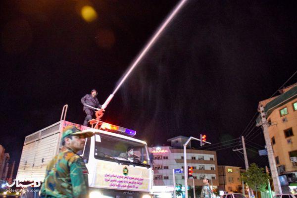 شهر گرگان ضد عفونی شد+گزارش تصویری