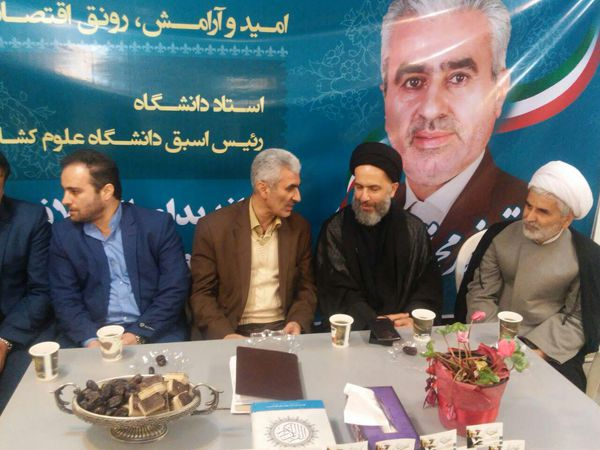عکس/حضور سیدعلی طاهری در ستاد انتخاباتی دکتر نورمحمد تربتی نژاد