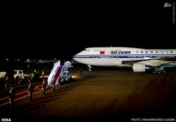 عکس/ هواپیمای رئیسجمهور چین در سفر به تهران