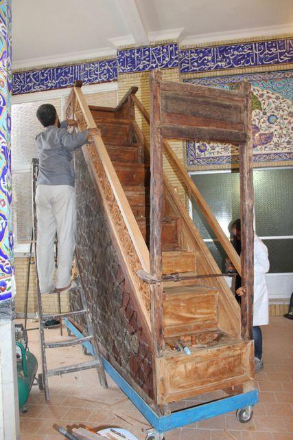 مرمت منبر تاریخی مسجد جامع گرگان