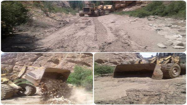 مسیر روستای شاهکوه سفلی به حاجی آباد بازگشایی و ترمیم شد