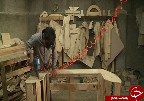 چرخاندن چرخ تولید در کارگاه تولید مبل / روستایی در شرق آق قلا مصداق یک تیر و دو نشان