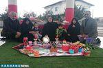 عکس/ سفره هفت سین خانواده نوروزی بر سرمزار هادی