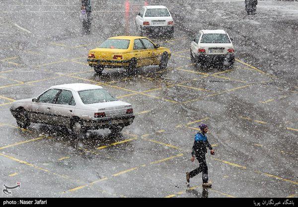 هواشناسی ایران ۹۸/۱۱/۶ بارش برف و باران در ۷ استان/پیشنهاد اعمال محدودیت ترافیکی ۲ روزه در تهران