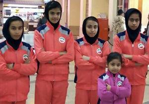 حضور تیم ووشو دختران گلستان در المپیاد کشوری