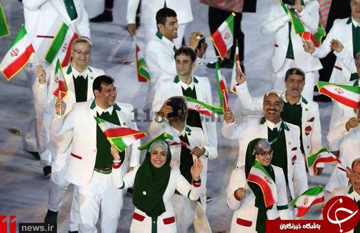 یک استقلالی در رژه کاروان ایران در المپیک +عکس