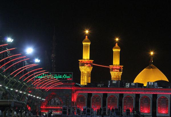 عکس زیبا از حرم امام حسین (ع)