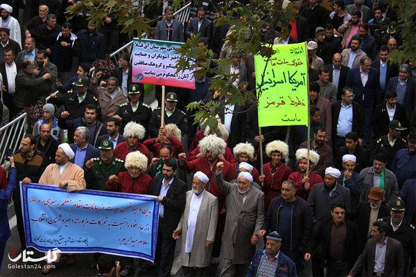مردم گرگان در حمایت از اقتدار و امنیت ملی کشور بپا خواستند+عکس