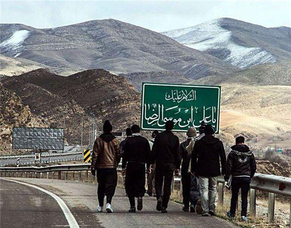استقبال موکبهای گلستانی از زائران امام رئوف + فیلم