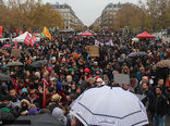 تظاهرات مردم پاریس بر علیه سفر ترامپ به فرانسه + عکس