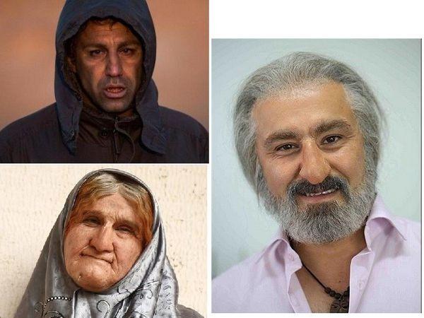 ۱۱ بازیگر ایرانی با گریم های سنگین + عکس