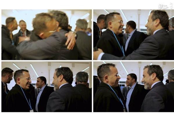 عکس/ عراقچی در آغوش همتای آمریکاییاش