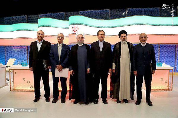 عکس یادگاری کاندیداها پس از آخرین مناظره