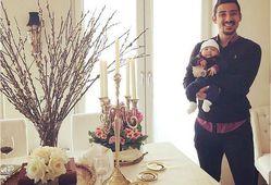 تبریک عید اینستاگرامی فوتبالیست مشهور + عکس