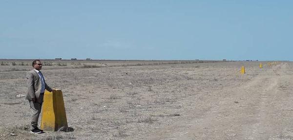 ۱۰ کیلومتر بنچ مارک در اراضی ساحلی ترکمن تا گمیشان نصب شد