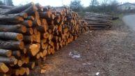 کشف بیش از 16 تن چوب جنگلی قاچاق در رامیان