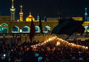 فیلم / مراسم شام غریبان حسینی در مشهد مقدس