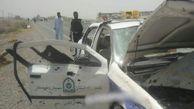 حمله تروریستی به خودروی پلیس راه ایرانشهر + تصویر