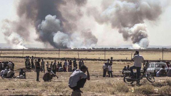 تصاویر/ حمله داعش به کوبانی