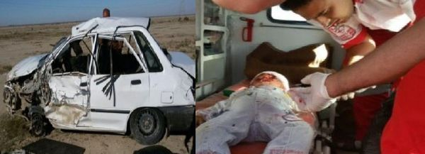 نجات کودک یکساله در تصادف محور اینچه برون با احیای قلبی، ریوی و مغزی+تصاویر