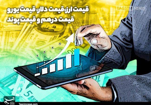 قیمت دلار، قیمت یورو، قیمت دینار عراق و قیمت درهم امروز ۹۸/۰۷/۱۸