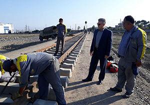 ریل گذاری سیلوی ایستگاه راه آهن گرگان
