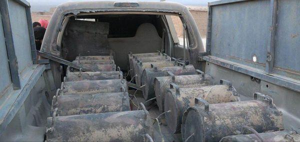 انهدام چندین خودروی بمبگذاری شده داعش در عراق