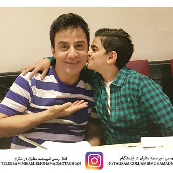 عکس/ سلفی جالب امیر محمد و عمو پورنگ