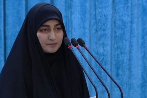 دختر سردار شهید سلیمانی: انتقام خون پدرم را خواهیم گرفت