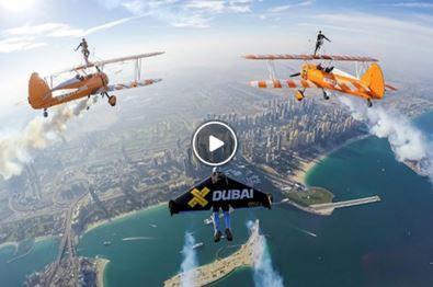 فیلم/ پرواز با جت من در آسمان دبی