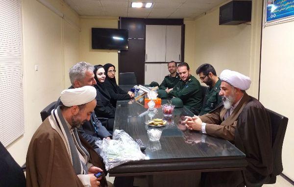 بازدید نماینده ولی فقیه سپاه پاسداران استان گلستان از پلی کلینیک تامین اجتماعی گرگان