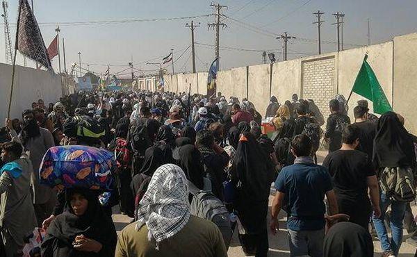 فیلم/ آخرین وضعیت تردد زائران در مرزهای چهارگانه