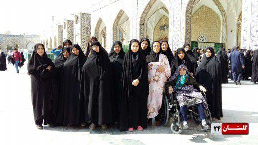 میزبانی آستان قدس رضوی از کاروان زائر اولی های گلستانی+ تصاویر
