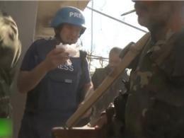 فیلم/ حمله موشکی به کاروان خبرنگاران روسیه در مرز سوریه و ترکیه