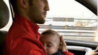 خطر در آغوش داشتن کودک حین رانندگی