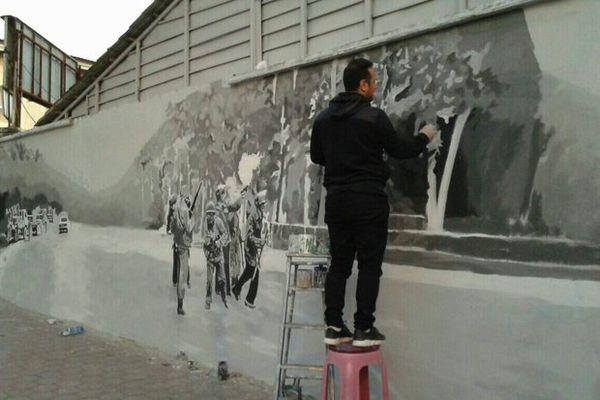 نقاشی دیواری واقعه ۵ آذر گرگان رونمایی میشود + تصاویر