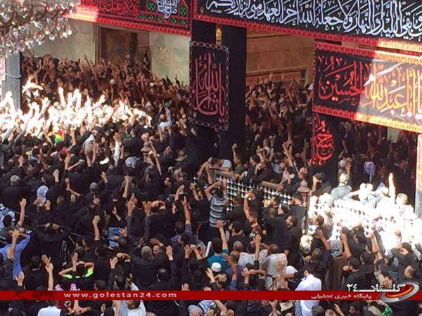 مراسم سوگواری عاشورای حسینی در کربلا برگزار شد.