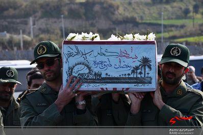 استقبال از شهید گمنام هشت سال دفاع مقدس در گرگان