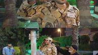 عکس/ ادای احترام جالب سرباز نجات یافته