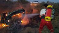 حریق خودروی سمند در بندرگز حادثه آفرید