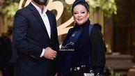 بازیگر پرحاشیه مشهور با همسرش در جشن حافظ