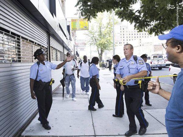 درگیری مسلحانه در فیلادلفیا آمریکا + تصاویر