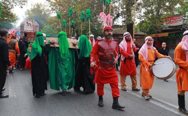 مراسم بزرگ پیادهروی جاماندگان اربعین حسینی + عکس