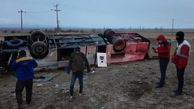 واژگونی اتوبوس در محور بجنورد- جنگل گلستان ۱۷ مصدوم داشت