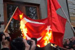 غضب روس ها، به سفارت ترکیه رسید+عکس