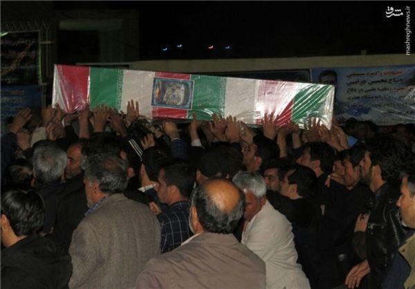 تصاویر/مراسم وداع با پیکر شهید محسن خزایی در زاهدان