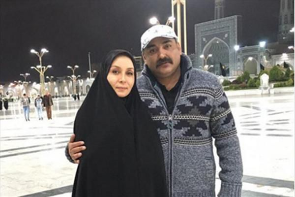حدیث فولادوند و همسرش در حرم اما رضا (ع)+تصاویر